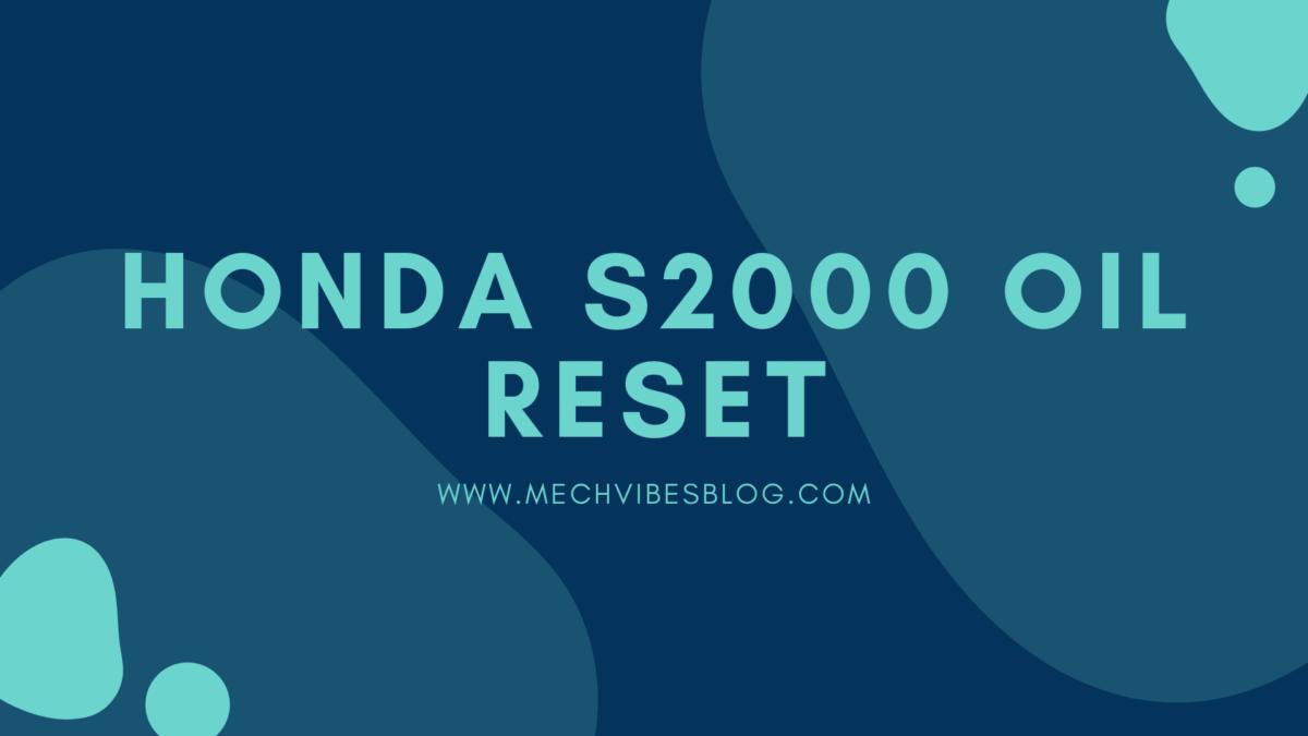 honda-S2000-oil-reset