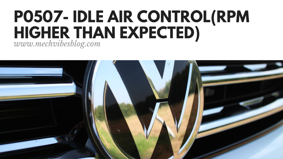Idle-Air-Control(RPM-Higher-Than-Expected)
