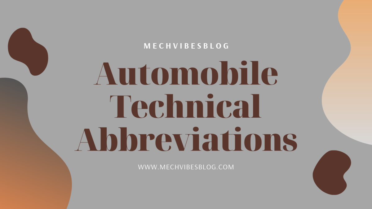 Automobile-technical-abbreviations